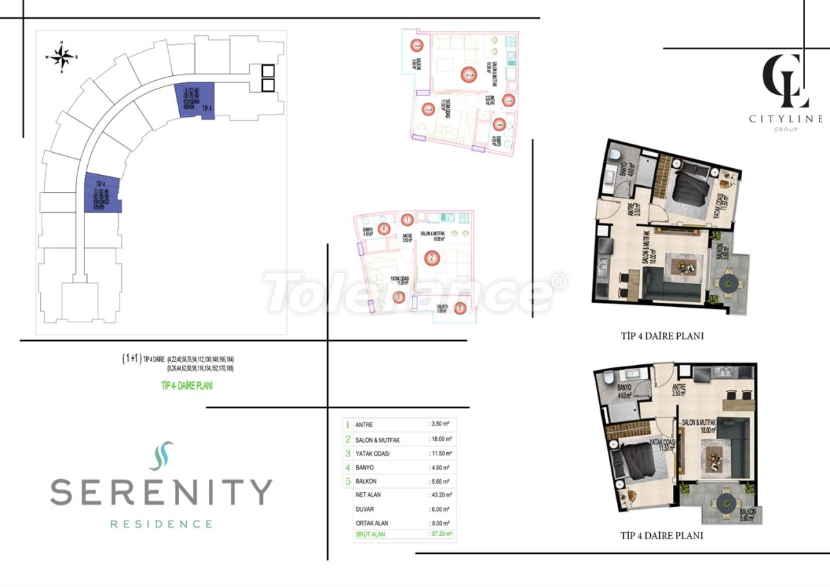 Роскошные апартаменты в комплексе с открытым бассейном, крытым бассейном, сауной и фитнес-центром - 21405 | Tolerance Homes