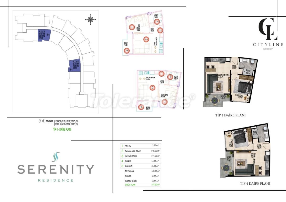Роскошные апартаменты в комплексе с открытым бассейном, крытым бассейном, сауной и фитнес-центром - 21408 | Tolerance Homes