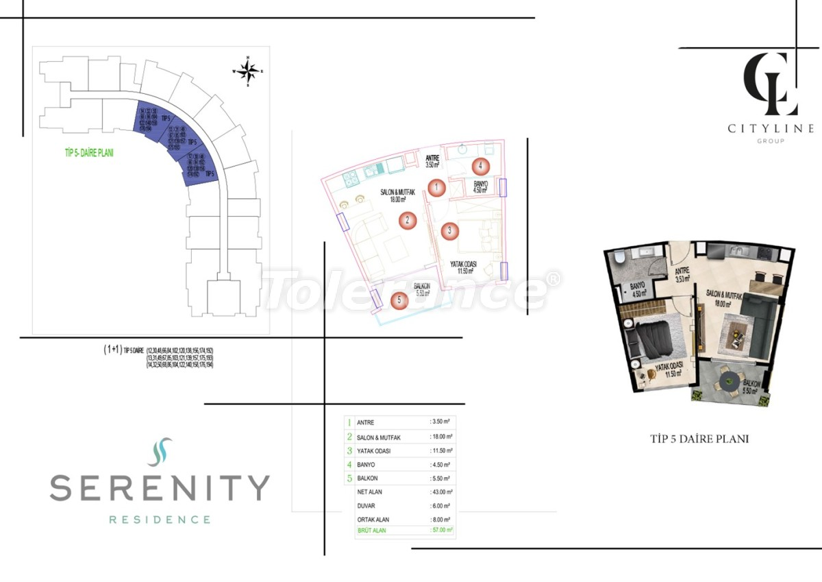 Роскошные апартаменты в комплексе с открытым бассейном, крытым бассейном, сауной и фитнес-центром - 21411 | Tolerance Homes