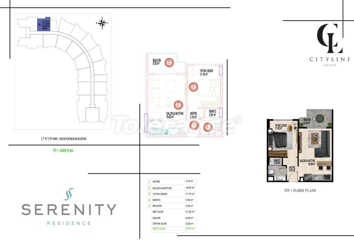 Роскошные апартаменты в комплексе с открытым бассейном, крытым бассейном, сауной и фитнес-центром - 21395 | Tolerance Homes