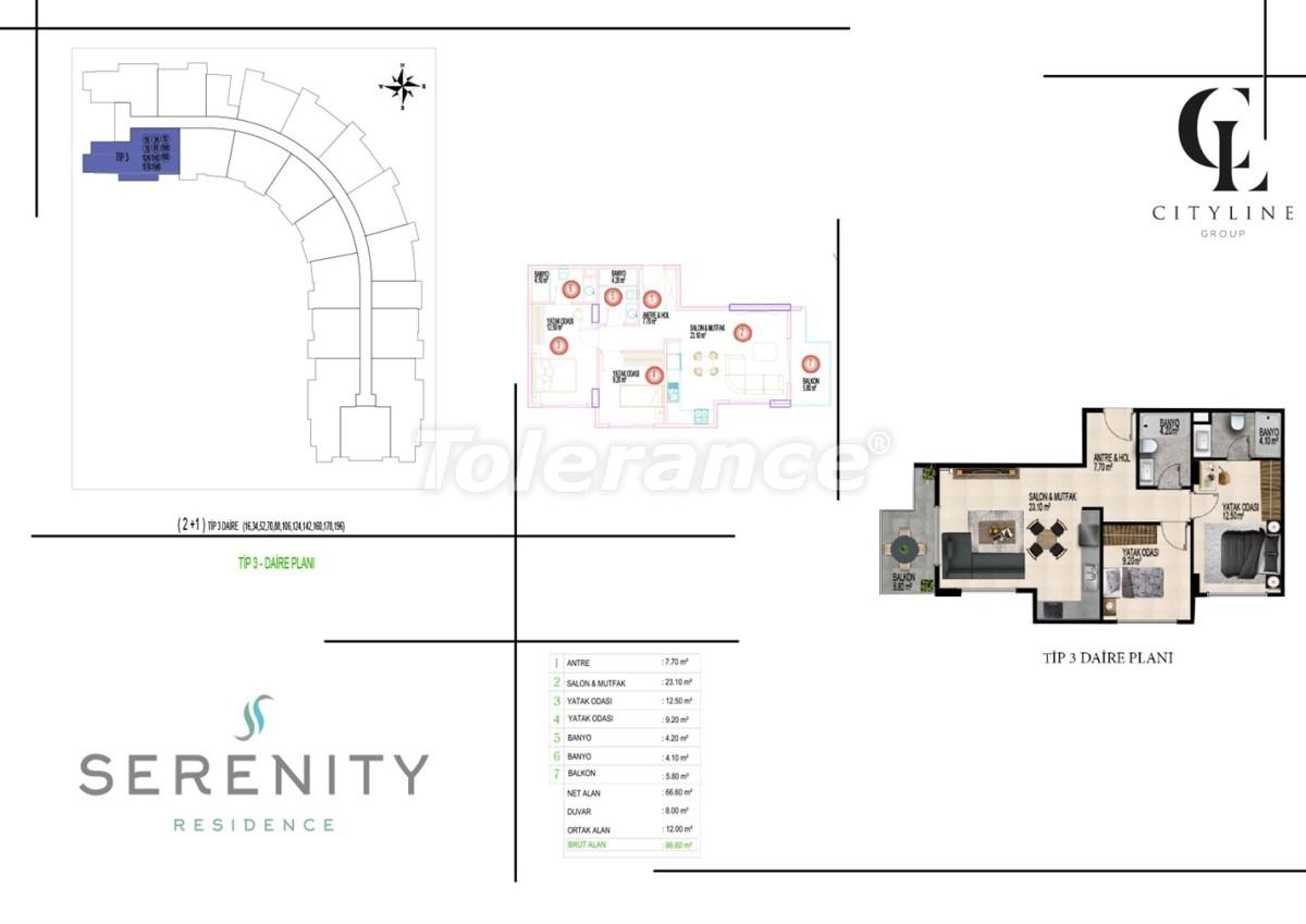 Роскошные апартаменты в комплексе с открытым бассейном, крытым бассейном, сауной и фитнес-центром - 21404 | Tolerance Homes