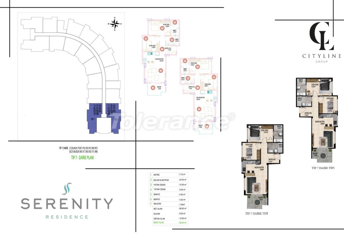 Роскошные апартаменты в комплексе с открытым бассейном, крытым бассейном, сауной и фитнес-центром - 21419   Tolerance Homes
