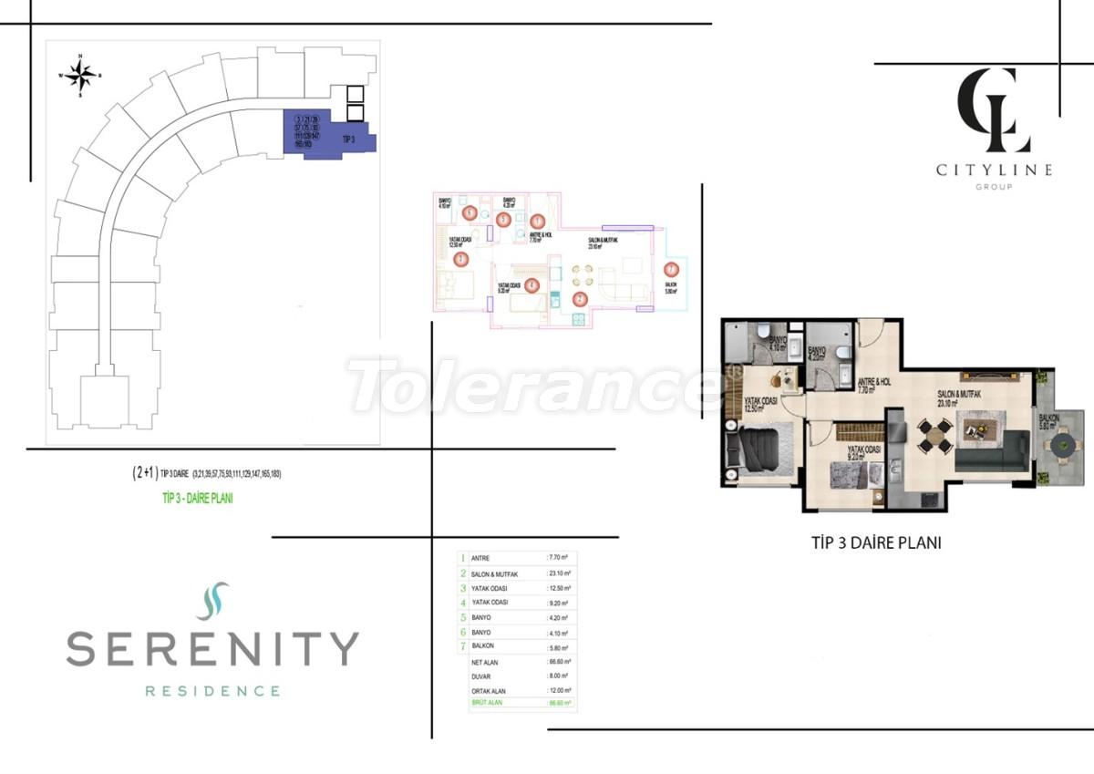 Роскошные апартаменты в комплексе с открытым бассейном, крытым бассейном, сауной и фитнес-центром - 21402   Tolerance Homes