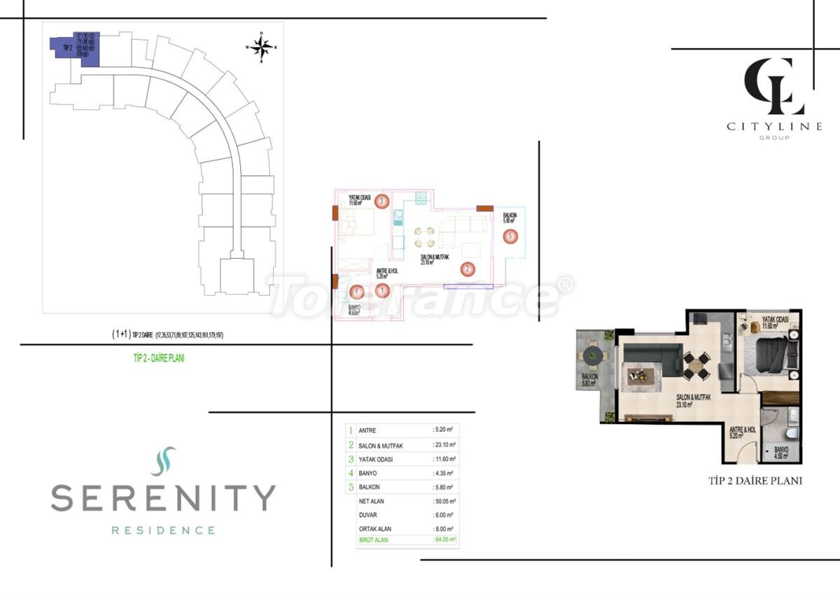 Роскошные апартаменты в комплексе с открытым бассейном, крытым бассейном, сауной и фитнес-центром - 21399   Tolerance Homes