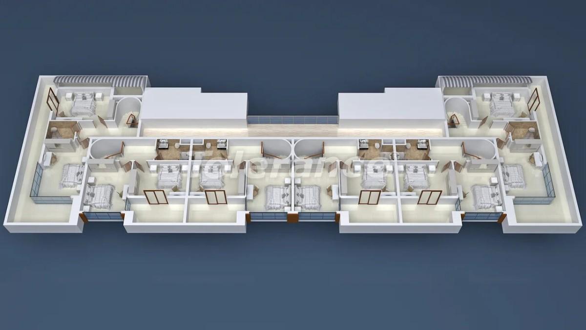 Недорогие апартаменты в Махмутларе, Аланья в современном комплексе - 21716 | Tolerance Homes