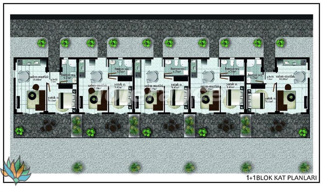 Апартаменты в Дидиме с панорамным видом на море - 21999 | Tolerance Homes