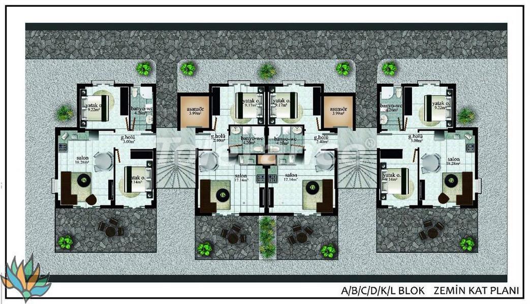 Апартаменты в Дидиме с панорамным видом на море - 22000 | Tolerance Homes