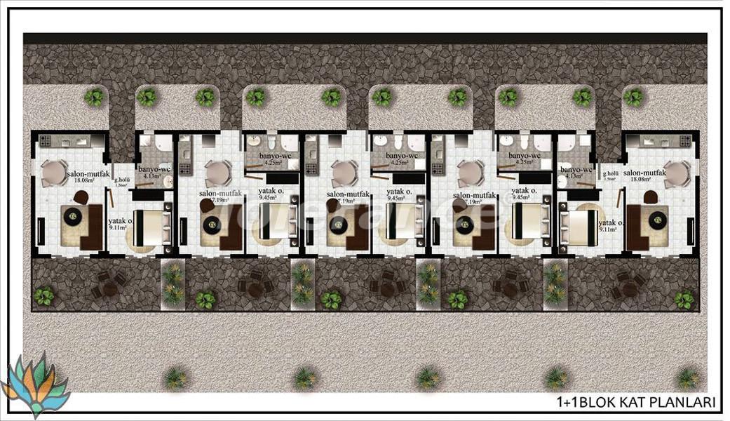 Апартаменты в Дидиме с панорамным видом на море - 21998   Tolerance Homes
