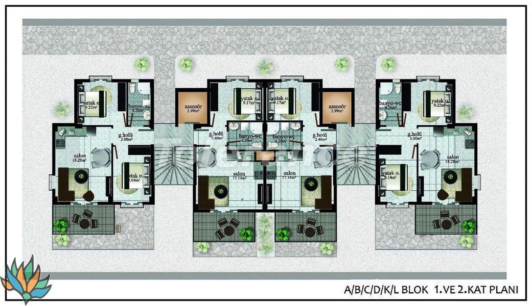Апартаменты в Дидиме с панорамным видом на море - 22001   Tolerance Homes