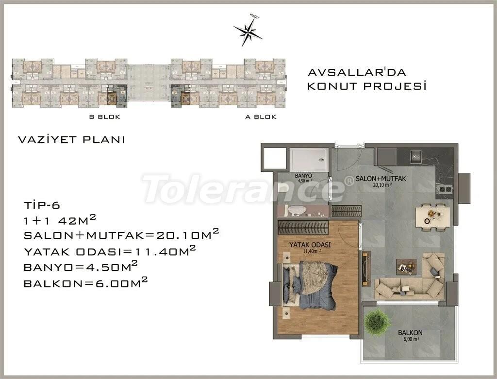 Современные апартаменты в Авсалларе - 22081 | Tolerance Homes