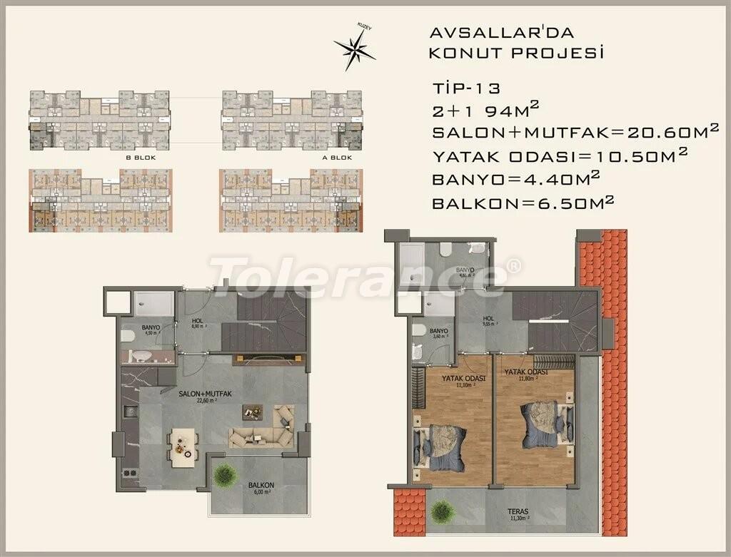 Современные апартаменты в Авсалларе - 22087 | Tolerance Homes
