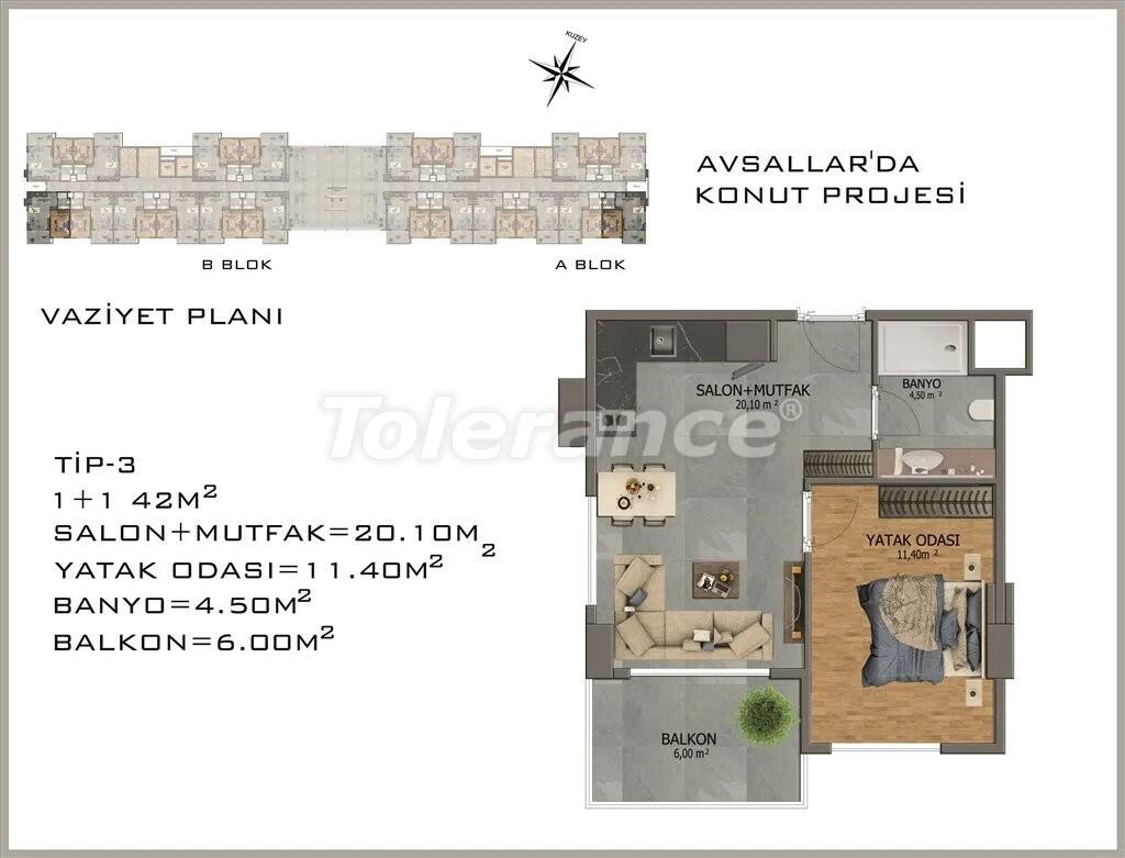 Современные апартаменты в Авсалларе - 22078 | Tolerance Homes