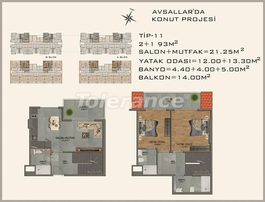 Современные апартаменты в Авсалларе - 22085 | Tolerance Homes