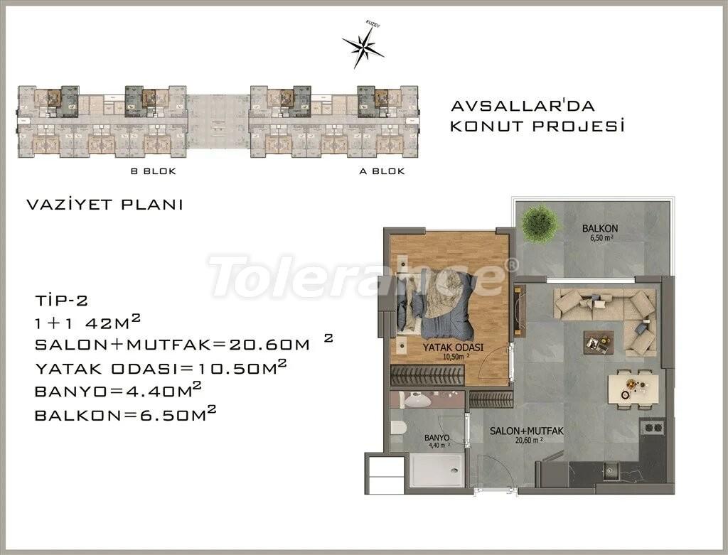 Современные апартаменты в Авсалларе - 22077 | Tolerance Homes
