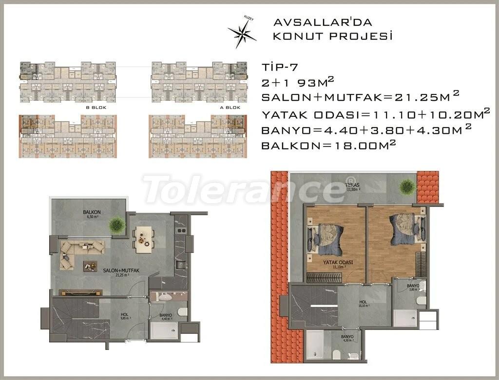 Современные апартаменты в Авсалларе - 22082 | Tolerance Homes