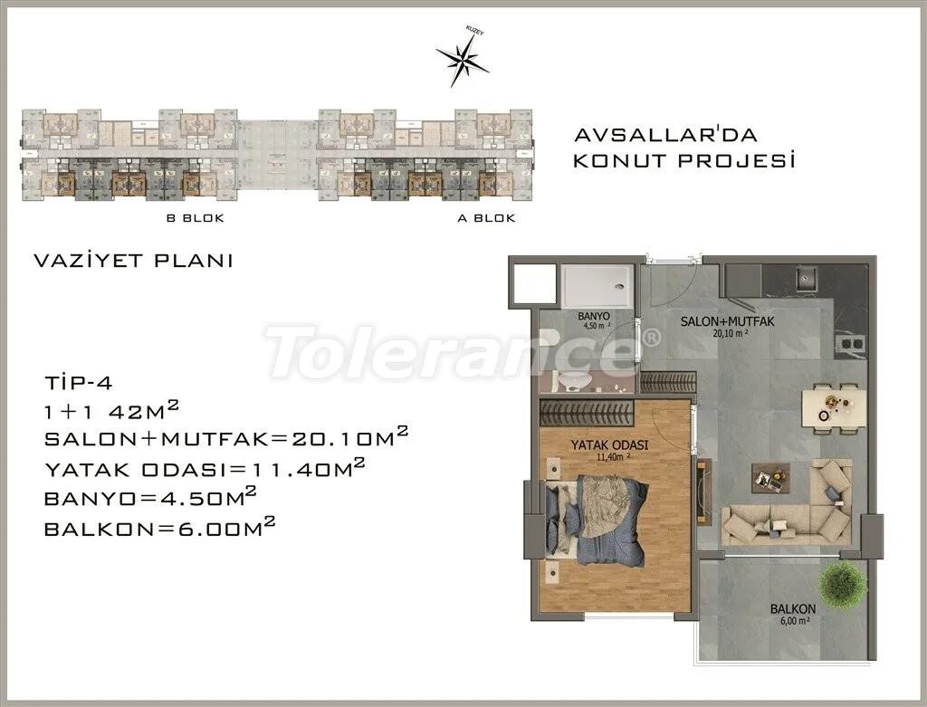 Современные апартаменты в Авсалларе - 22079 | Tolerance Homes