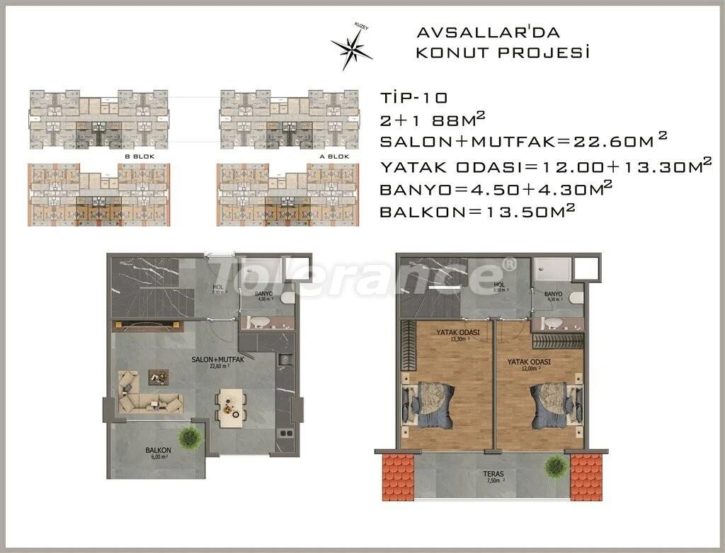 Современные апартаменты в Авсалларе - 22084 | Tolerance Homes
