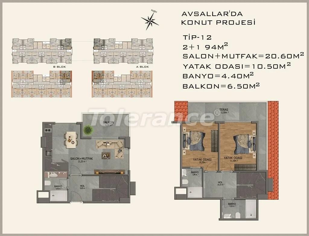 Современные апартаменты в Авсалларе - 22086 | Tolerance Homes