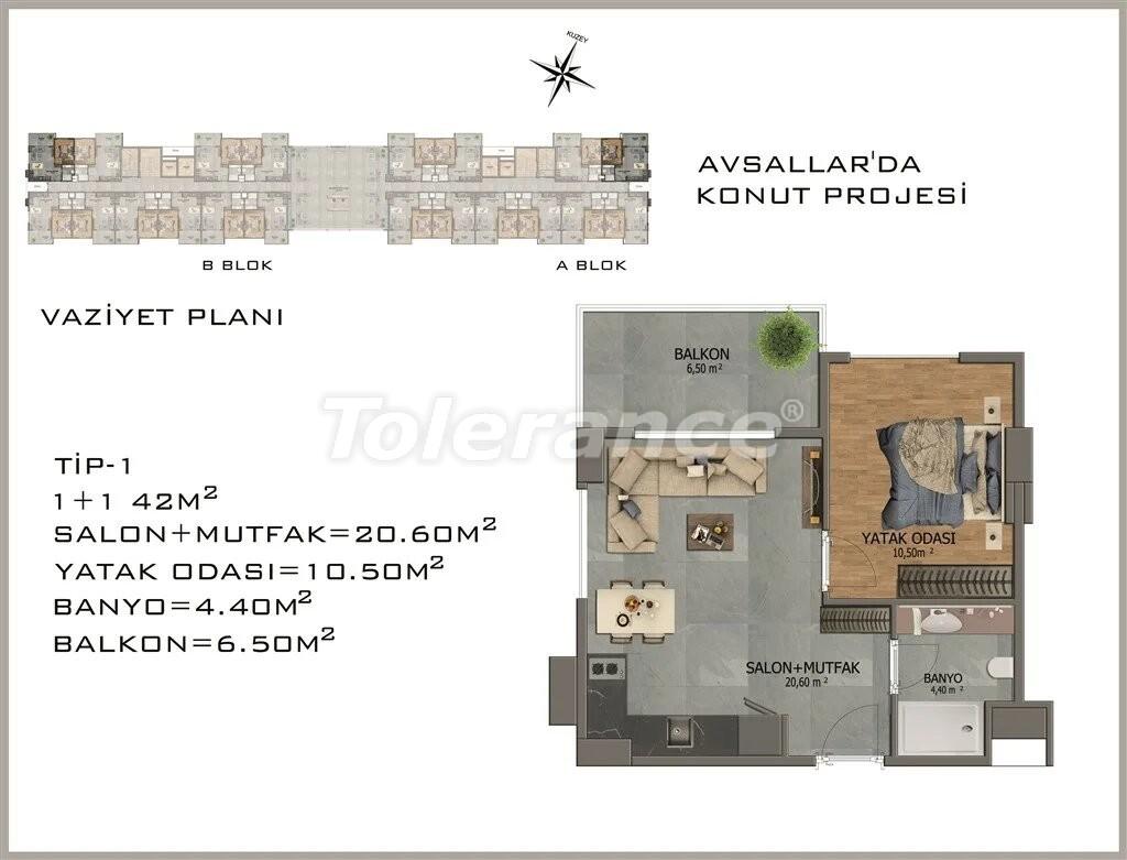 Современные апартаменты в Авсалларе - 22076 | Tolerance Homes