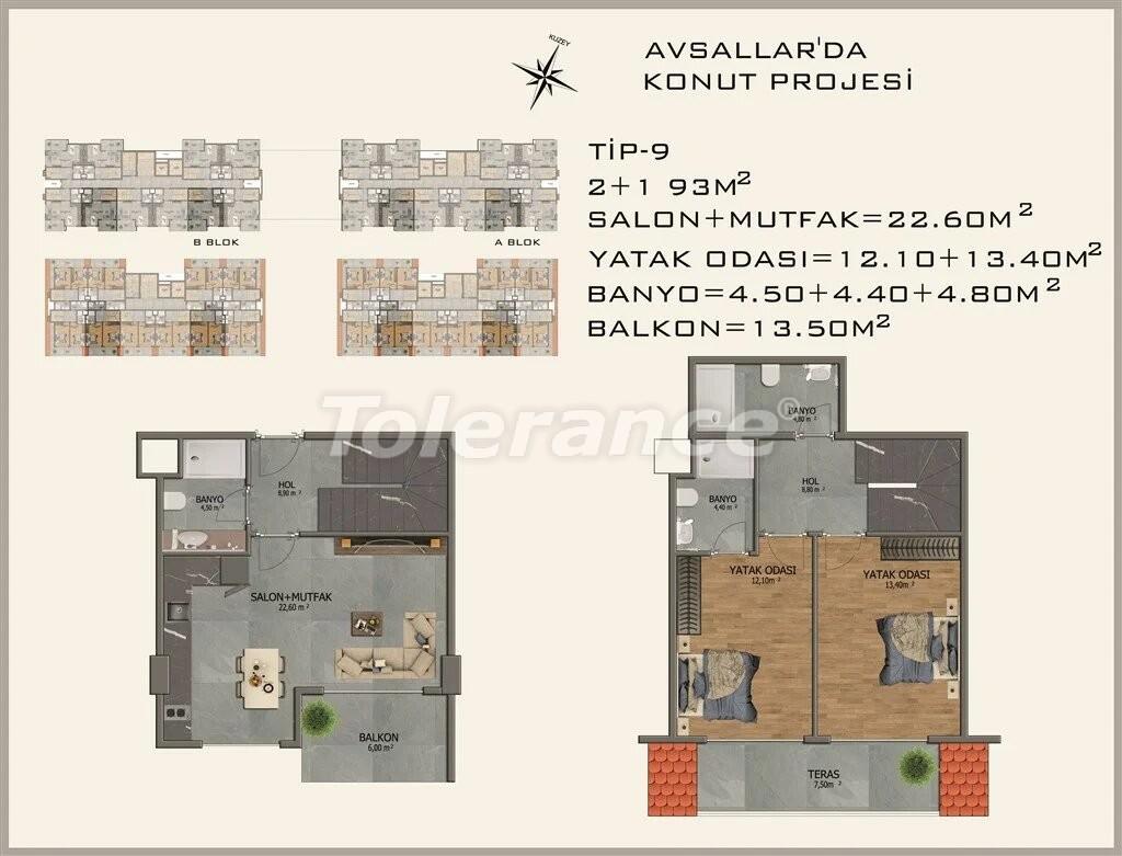 Современные апартаменты в Авсалларе - 22083 | Tolerance Homes