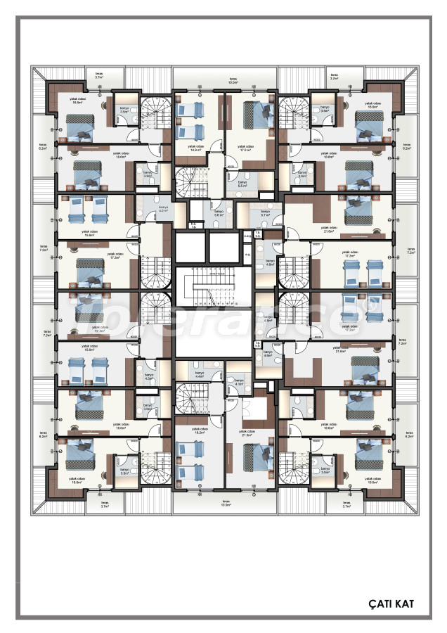 Современные апартаменты в центре Алании от застройщика с возможностью рассрочки до 6 месяцев - 22609 | Tolerance Homes