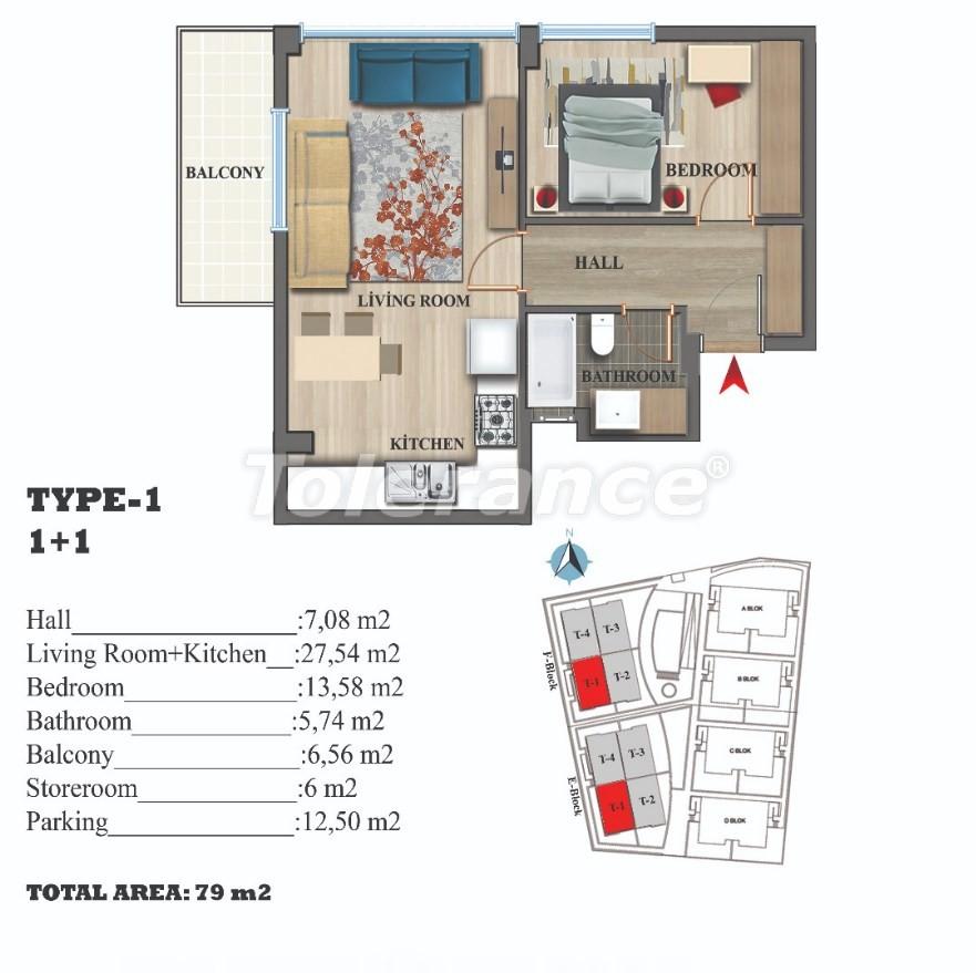 Стильные квартиры в Ларе, Анталия в современном комплексе с открытым бассейном - 22686 | Tolerance Homes