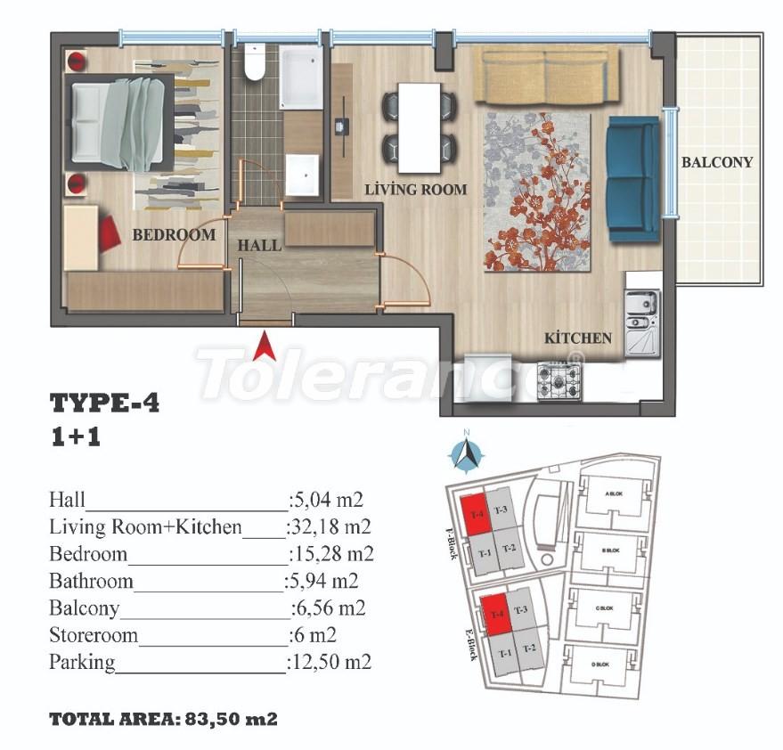 Стильные квартиры в Ларе, Анталия в современном комплексе с открытым бассейном - 22688 | Tolerance Homes