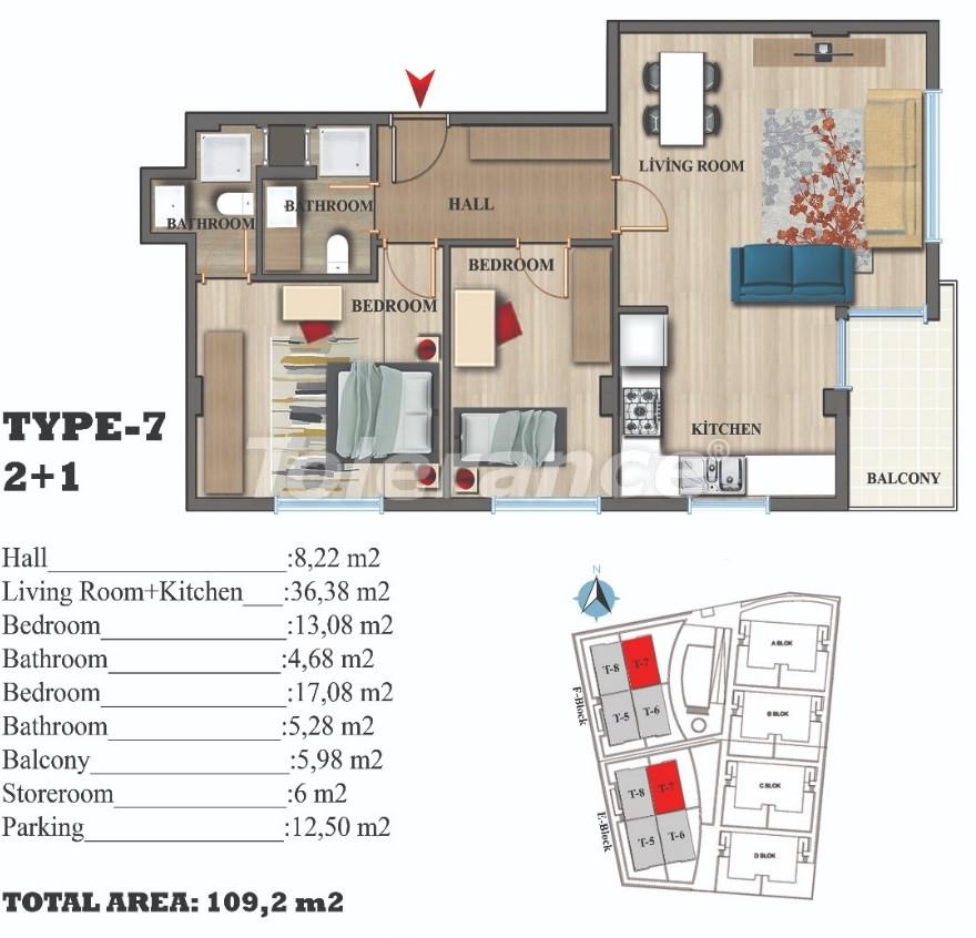 Стильные квартиры в Ларе, Анталия в современном комплексе с открытым бассейном - 22692 | Tolerance Homes