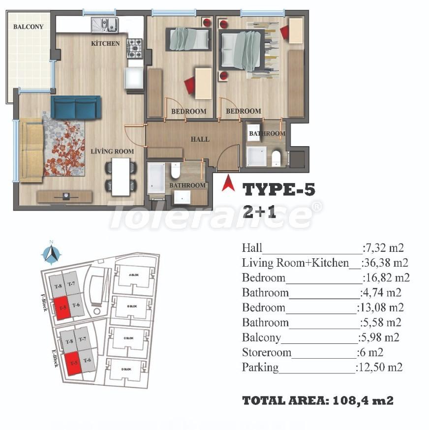 Стильные квартиры в Ларе, Анталия в современном комплексе с открытым бассейном - 22689 | Tolerance Homes