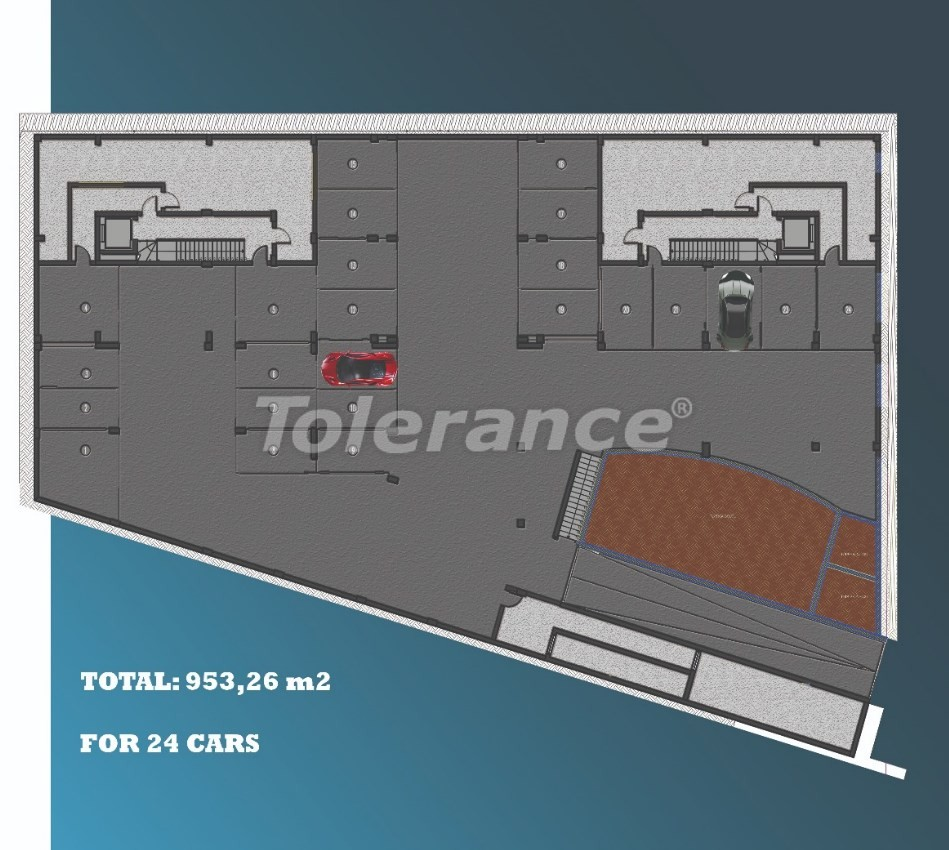 Стильные квартиры в Ларе, Анталия в современном комплексе с открытым бассейном - 22693 | Tolerance Homes