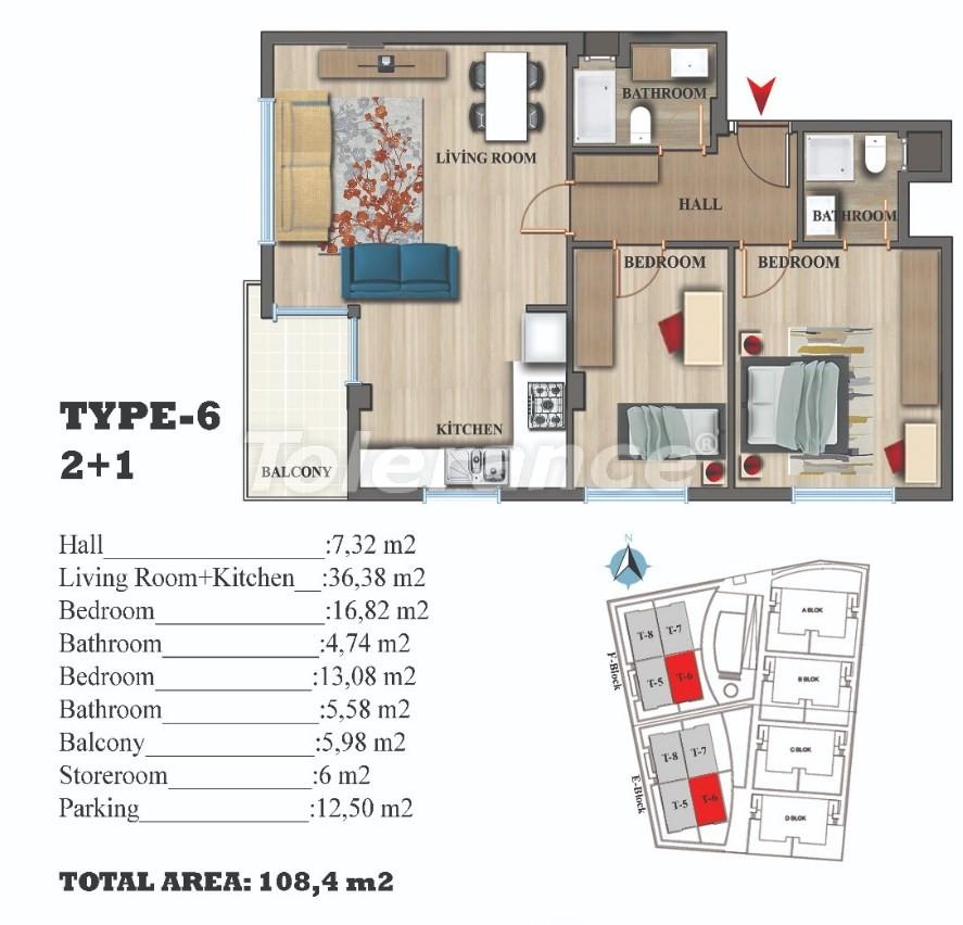 Стильные квартиры в Ларе, Анталия в современном комплексе с открытым бассейном - 22690 | Tolerance Homes