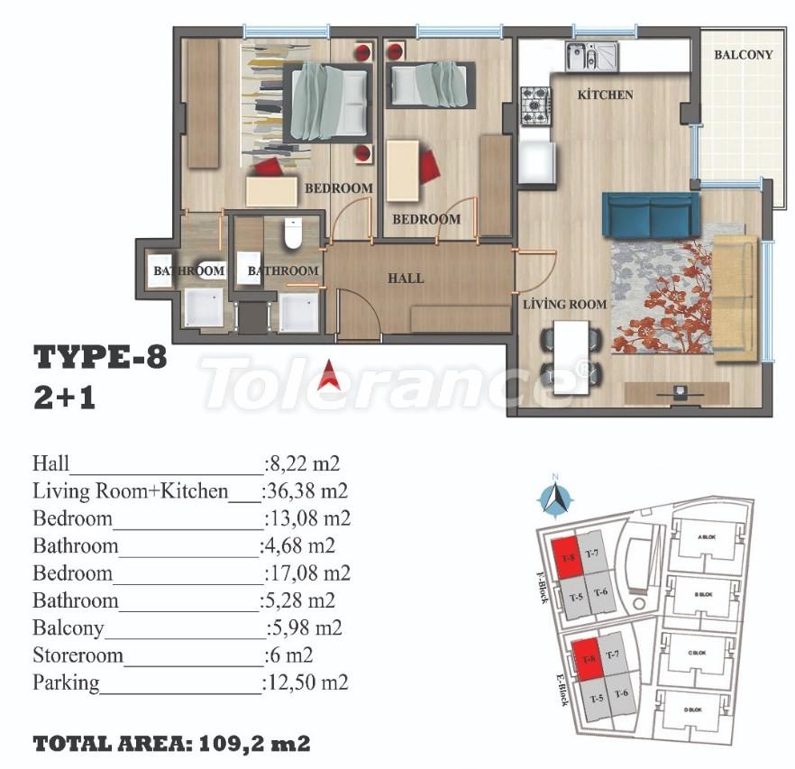 Стильные квартиры в Ларе, Анталия в современном комплексе с открытым бассейном - 22694 | Tolerance Homes