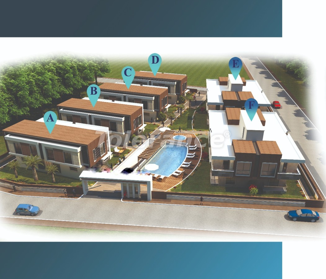 Стильные виллы в Ларе, Анталия в комплексе с открытым бассейном с возможностью получения гражданства - 22717 | Tolerance Homes