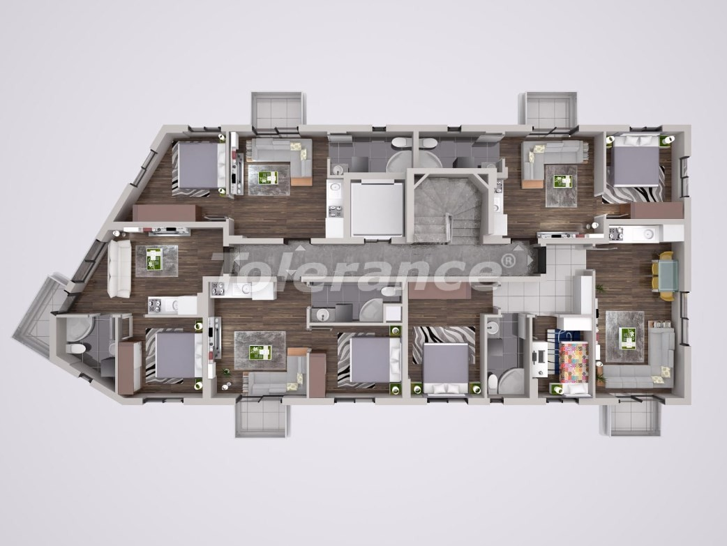 Уютные квартиры в Муратпаша, Анталия - 23662 | Tolerance Homes