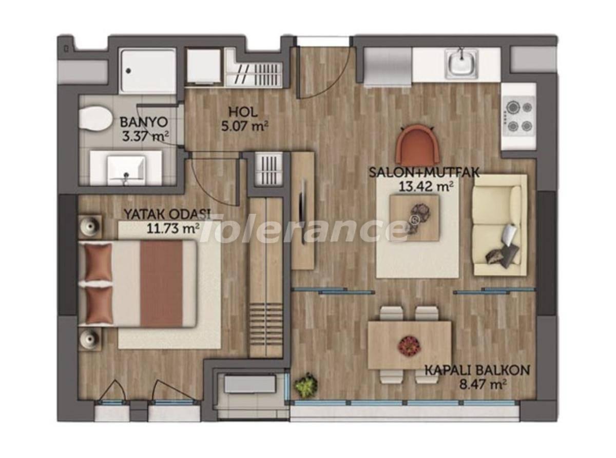 Современные апартаменты в Стамбуле с гарантией аренды на 5 лет от лучшего застройщика - 23130 | Tolerance Homes