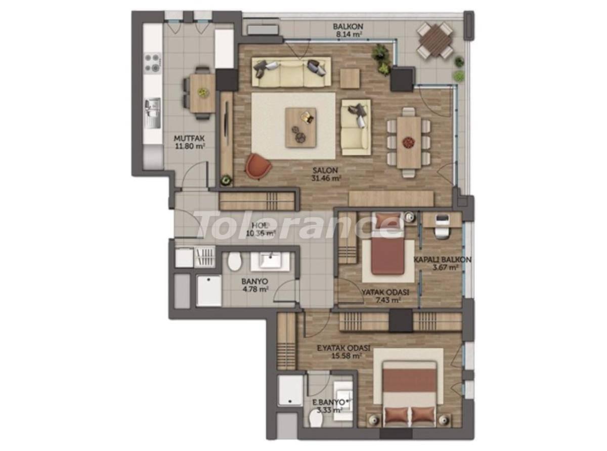 Современные апартаменты в Стамбуле с гарантией аренды на 5 лет от лучшего застройщика - 23131 | Tolerance Homes