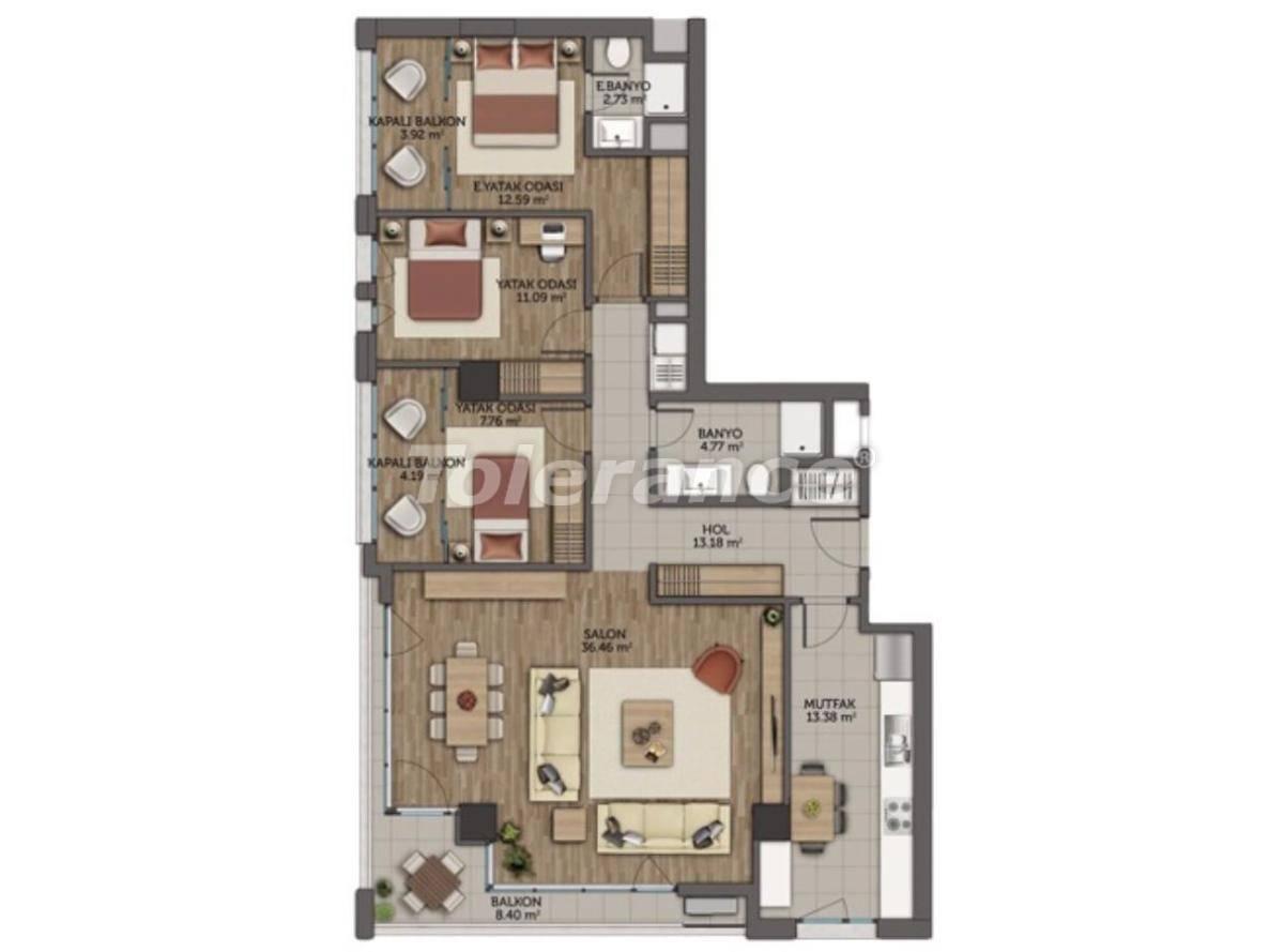 Современные апартаменты в Стамбуле с гарантией аренды на 5 лет от лучшего застройщика - 23132 | Tolerance Homes