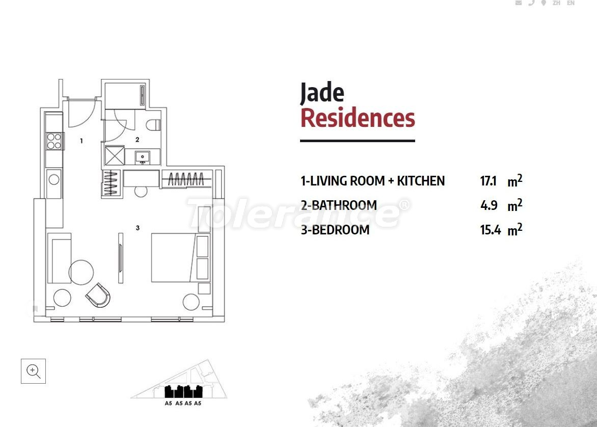 Апартаменты в Стамбуле в резиденс-отеле класса люкс с высокой гарантией аренды - 23366   Tolerance Homes