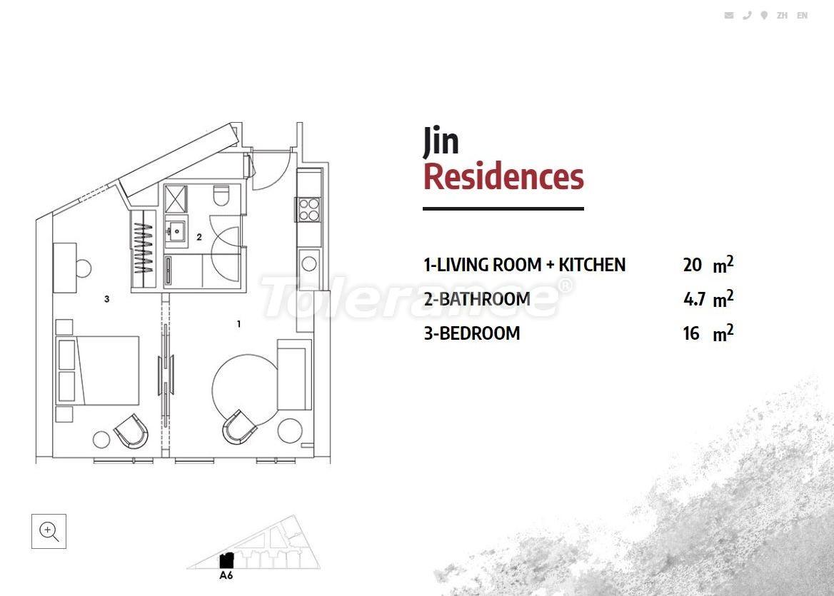 Апартаменты в Стамбуле в резиденс-отеле класса люкс с высокой гарантией аренды - 23367   Tolerance Homes
