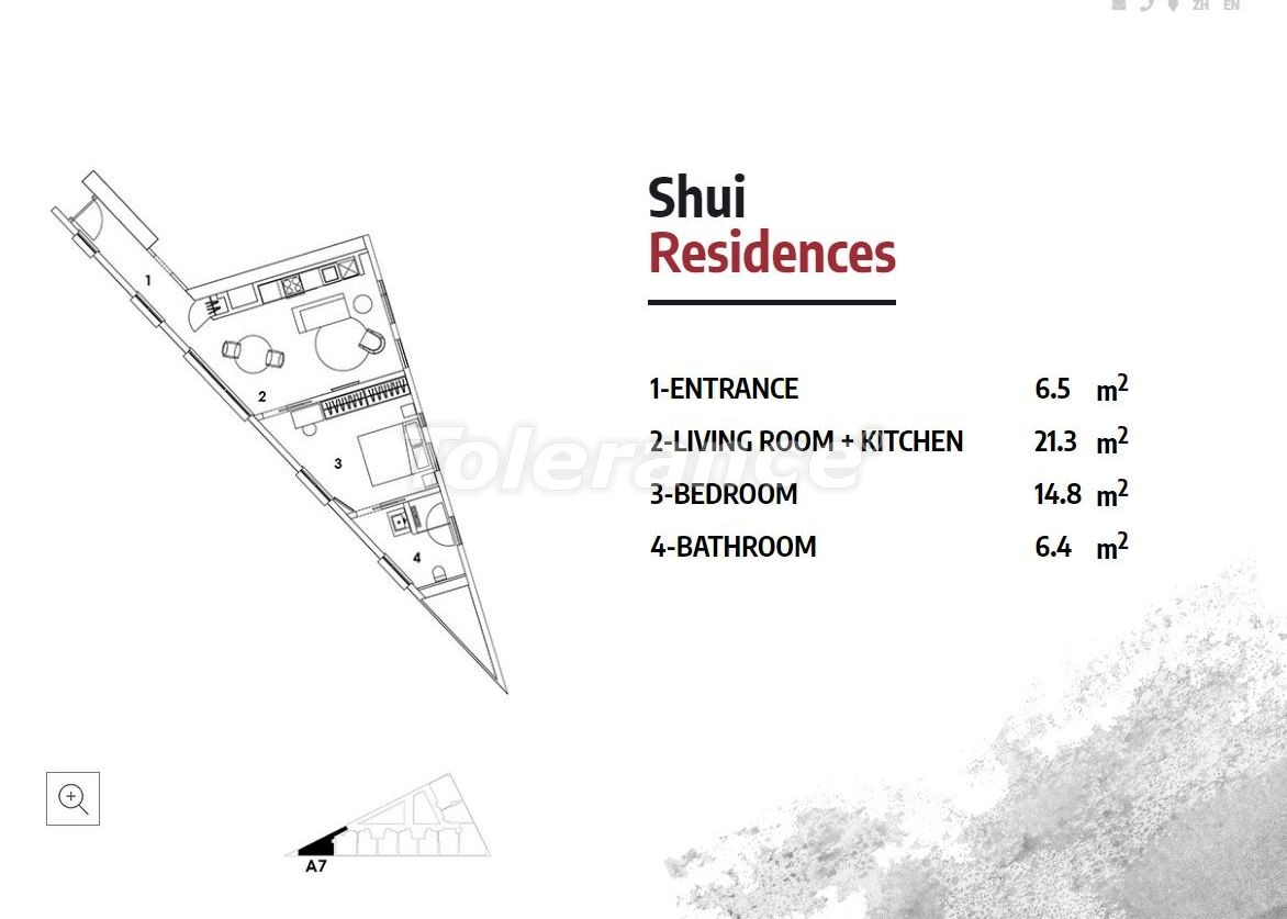 Апартаменты в Стамбуле в резиденс-отеле класса люкс с высокой гарантией аренды - 23368   Tolerance Homes