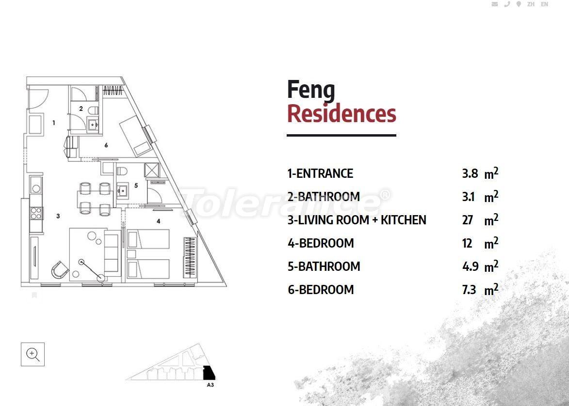 Апартаменты в Стамбуле в резиденс-отеле класса люкс с высокой гарантией аренды - 23364   Tolerance Homes