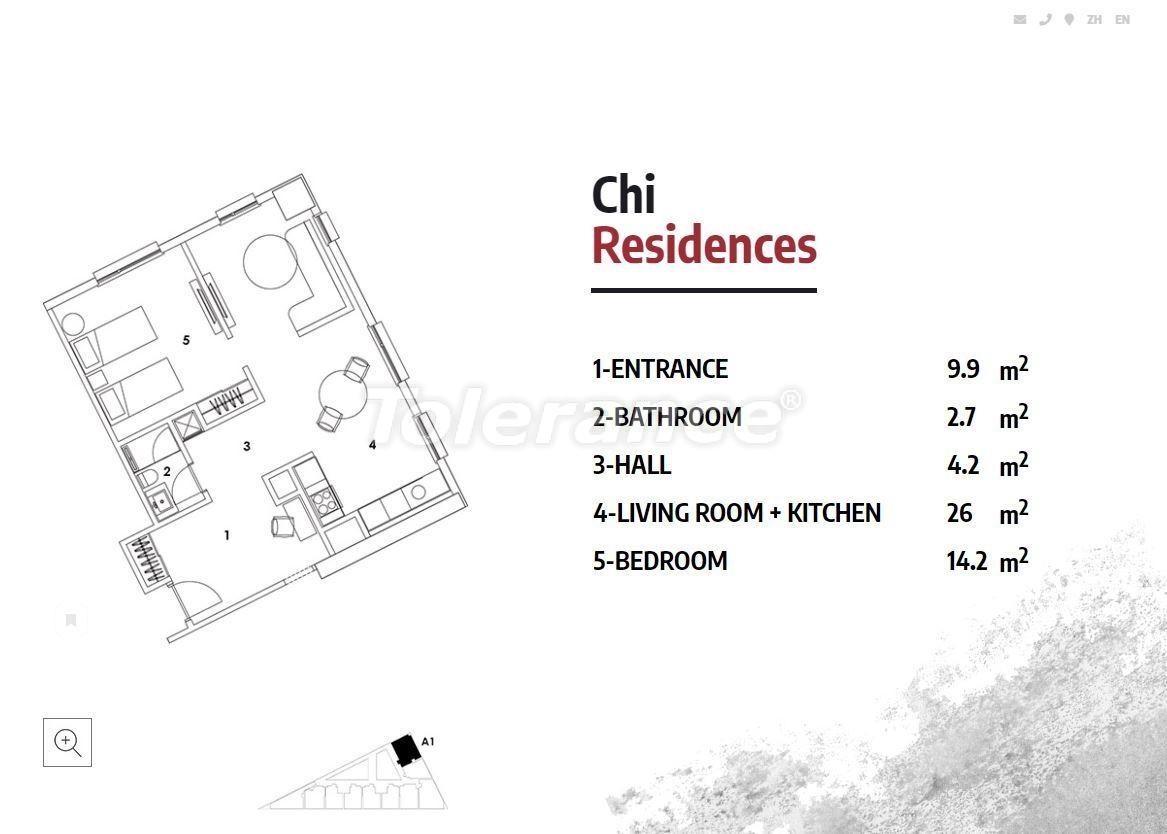Апартаменты в Стамбуле в резиденс-отеле класса люкс с высокой гарантией аренды - 23362   Tolerance Homes