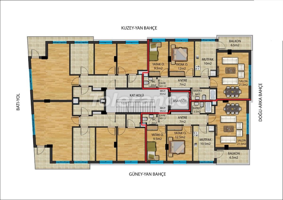 Современные квартиры в  центре Анталии от надежного застройщика - 23907 | Tolerance Homes