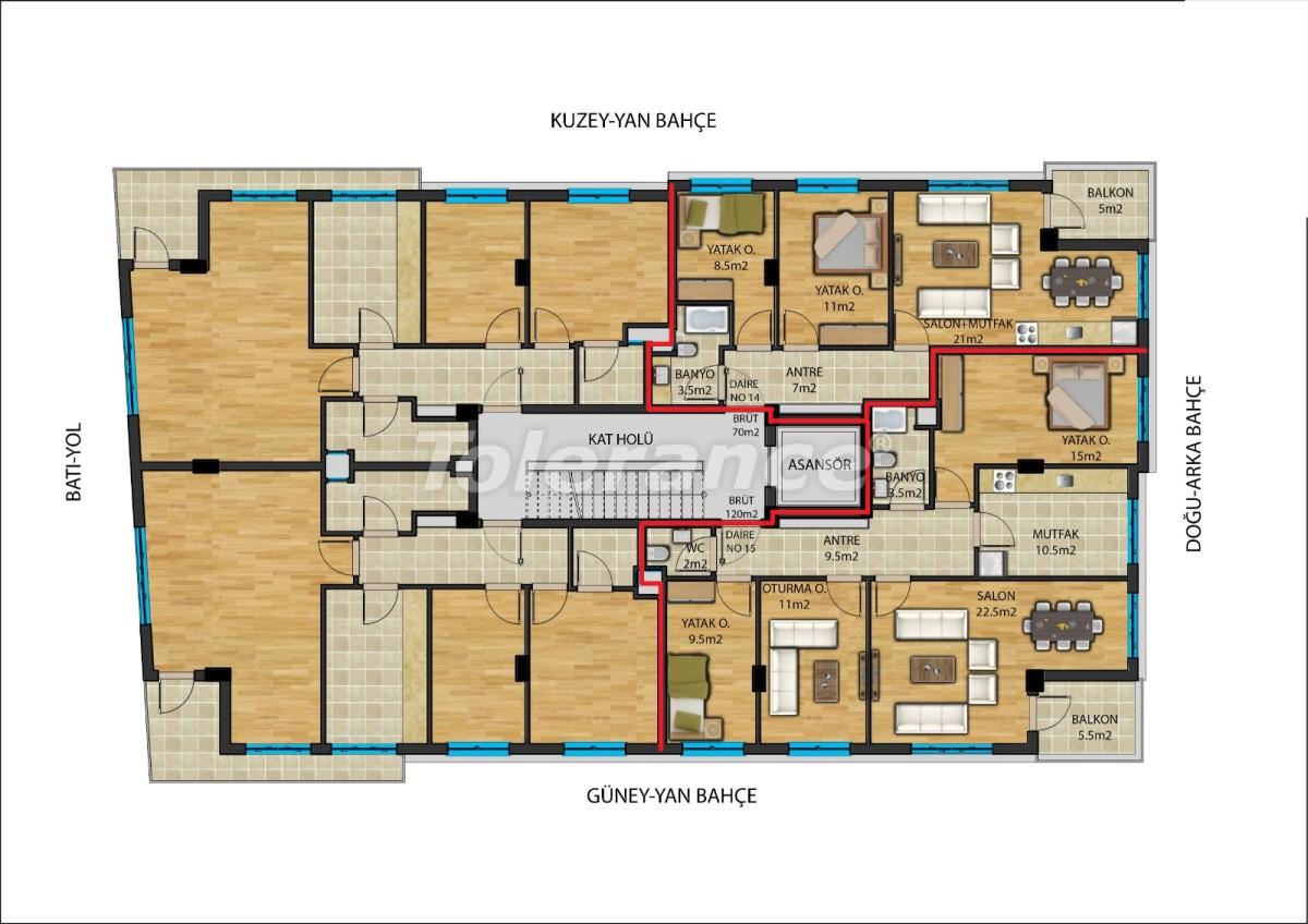 Современные квартиры в  центре Анталии от надежного застройщика - 23908 | Tolerance Homes