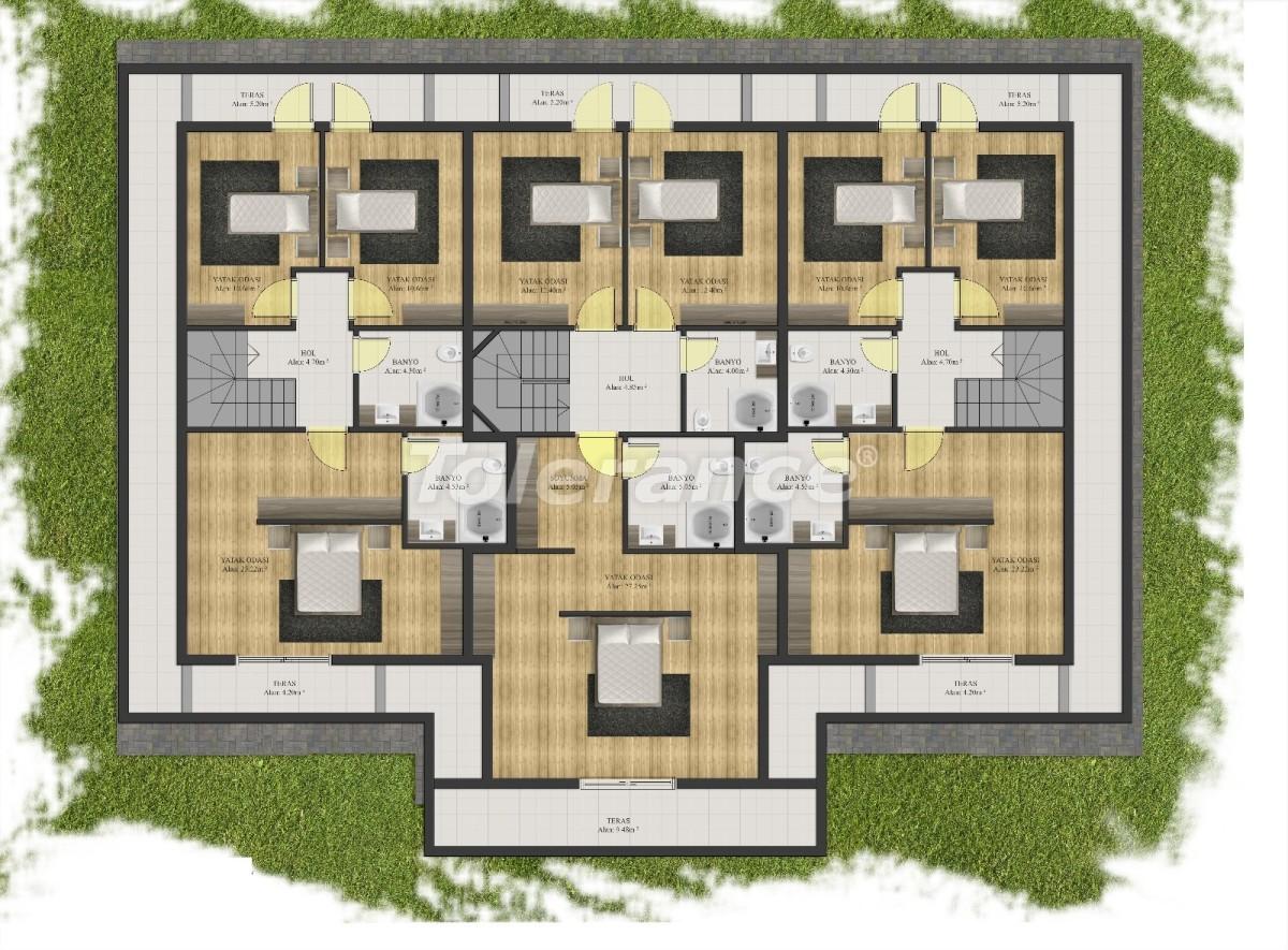 Современные квартиры в Арсланбуджаке, Кемер в комплексе с бассейном - 24091 | Tolerance Homes