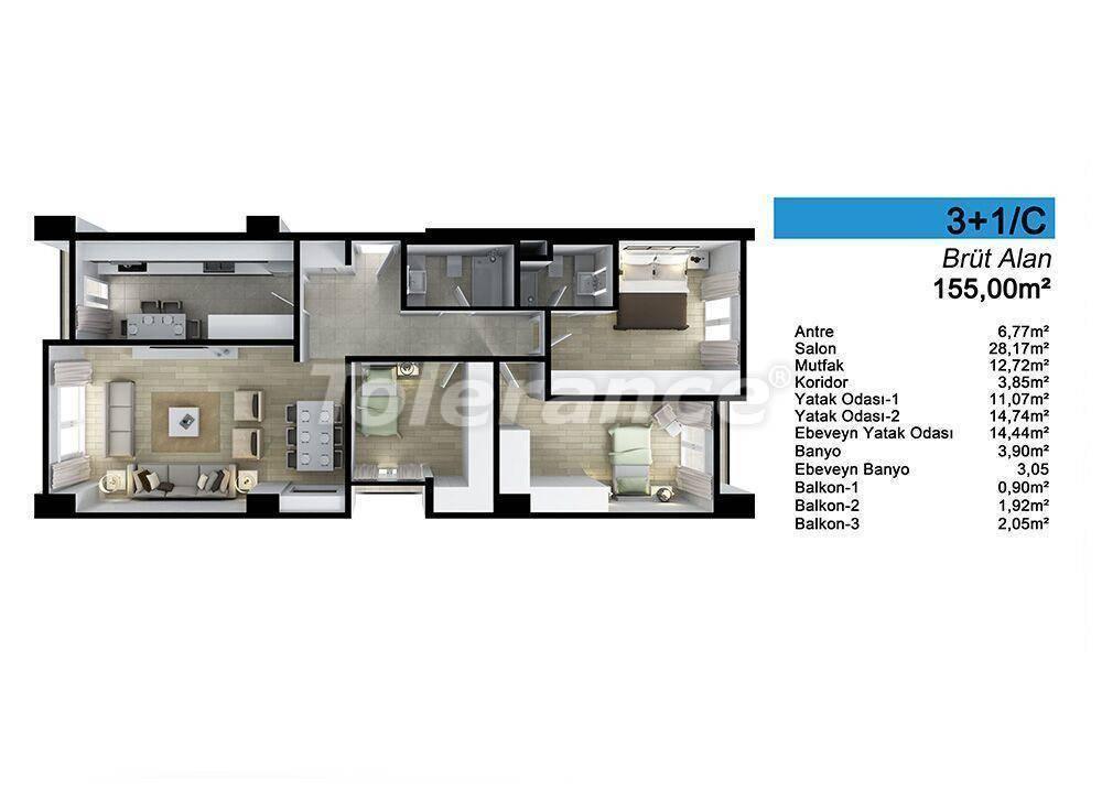 Просторные квартиры в Стамбуле в рассрочку с прямым видом на море и озеро - 24095   Tolerance Homes