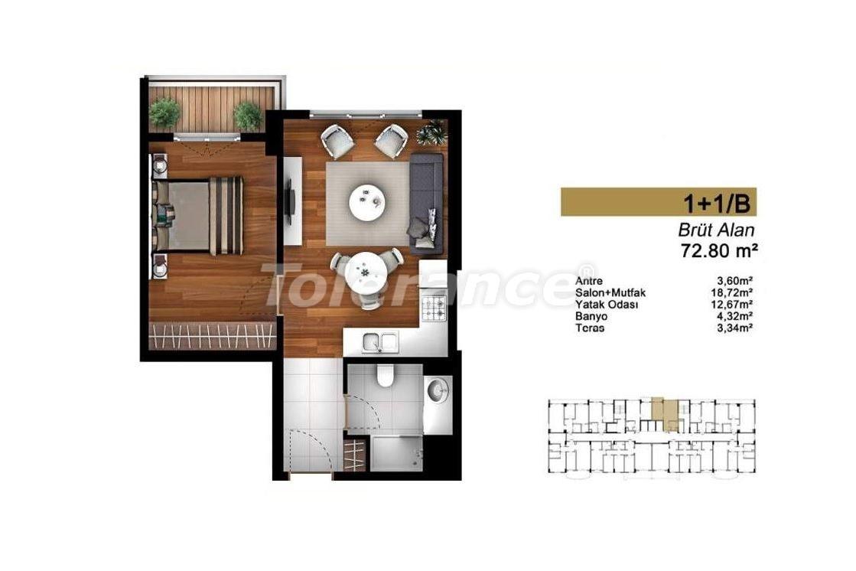 Недорогие квартиры в Стамбуле с высококачественной отделкой в современном комплексе - 24438 | Tolerance Homes