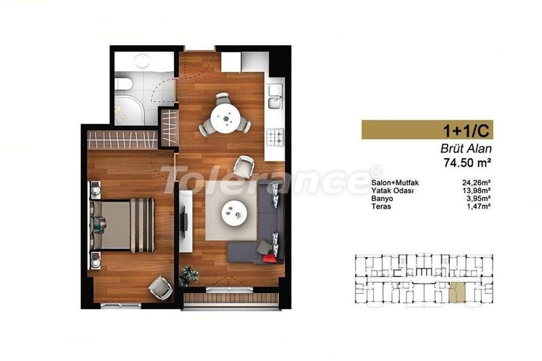 Недорогие квартиры в Стамбуле с высококачественной отделкой в современном комплексе - 24437 | Tolerance Homes