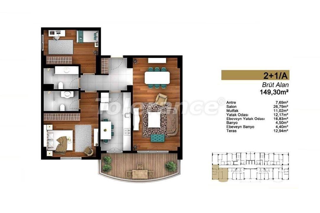 Недорогие квартиры в Стамбуле с высококачественной отделкой в современном комплексе - 24439 | Tolerance Homes