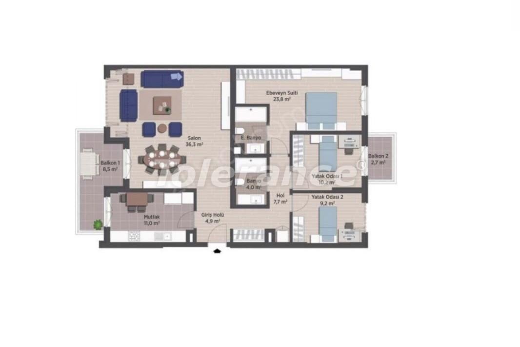 Квартиры класса люкс в Стамбуле в современном комплексе с рассрочкой до 24 месяцев - 24924   Tolerance Homes
